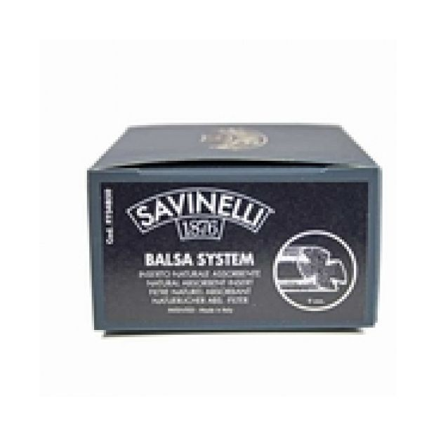 Savinelli Balsa Filters 9mm 50 stuks