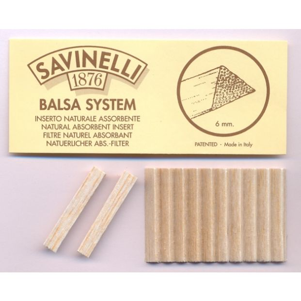 Savinelli Balsa Filter 6mm 20 stuks